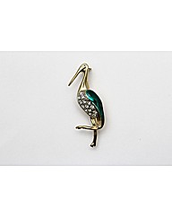Gold Plated Pelican Brooch