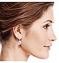 Jon Richard Oval Peardrop Earring