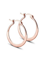 Jon Richard Polished Flat Hoop Earring