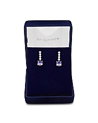 Jon Richard Purple Stone Drop Earring