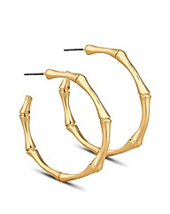 Jon Richard Gold Bamboo Hoop Earring