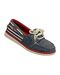 Ladies Burnbake Navy Shoe