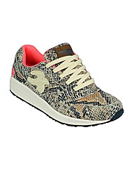 Ladies 9 Barrow Snake Print Trainer