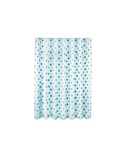 Polka Dot Shower Curtain  Blue