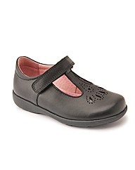 Start-rite Daisy May Black Leather Fit H