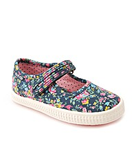 Start-rite Posy Navy Floral Canvas Fit F