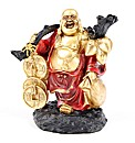 Fat Chinese Buddha Figurine with Coins