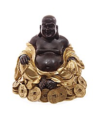 Gold and Brown Chinese Buddha on Coins