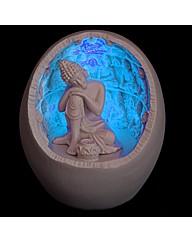 LED White Thai Buddha Incense Holder