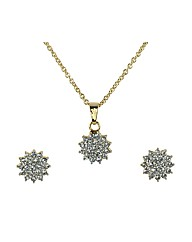 Ladies Star Necklace & Earings