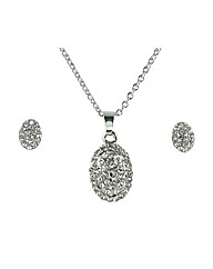 Ladies Oval Necklace and Earings