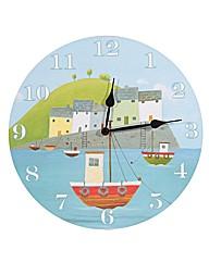 Jan Pashley Harbour Picture Clock