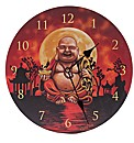 Laughing Chinese Buddha Picture Clock