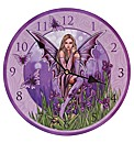 Flower Fairy with Irises Picture Clock