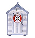 Novelty Beach Hut Shaped Picture Clock