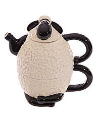 Cartoon Sheep Teapot and Cup Set for 1