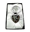 Patterned Murano Glass Heart Keyring