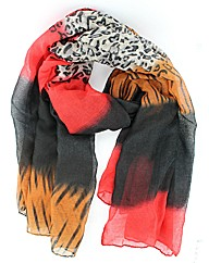 Animal Print Effect Scarf