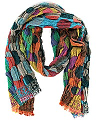 Multi Spot Tapestry Effect Scarf