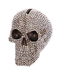Silver Jewelled Skull Money Box