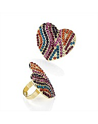 Petal Dolls Multi Heart Ring