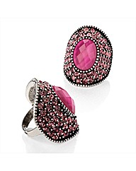 Petal Dolls Fuchsia Ring