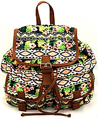 Lili B Aztec Print Backpack