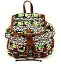 Lili B Aztec Print Backpack