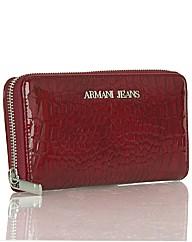 Armani Jeans Croc Zip Purse