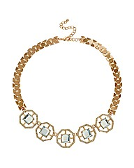 Mood Crystal Octagon Link Necklace