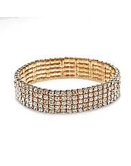 Mood Rose Gold Diamante Stretch Bracelet