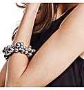 Mood Blue Pearl Cluster Bracelet
