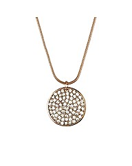Mood Rose Gold Crystal Disc Necklace