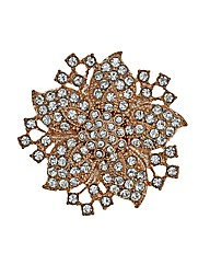 Mood Crystal Embellished Floral Brooch