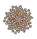 Mood Crystal Embellished Floral Brooch