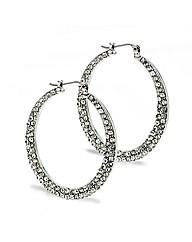 Mood Crystal Silver Hoop Earring