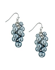 Mood Blue Pearl Cluster Drop Earring