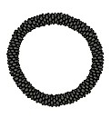 Mood Black Seed Bead Stretch Bracelet