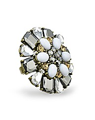 Mood Facet Stone Adjustable Ring