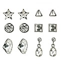 Mood Set Of Six Crystal Stud Earrings