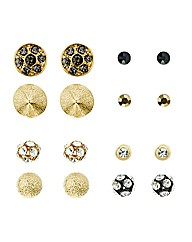 Mood Set Of Eight Mixed Stud Earrings