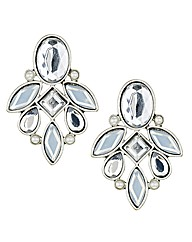Mood Crystal And Pearl Leaf Earring