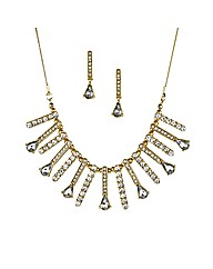 Mood Gold Crystal Stick Jewellery Set