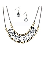 Mood Tubular Peardrop Jewellery Set