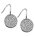 Mood Silver Crystal Round Drop Earring