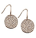 Mood Rose Gold Crystal Disc Drop Earring