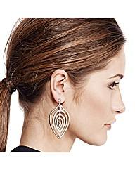 Mood Statement Crystal Leaf Earring