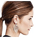 Mood Statement Crystal Leaf Earring