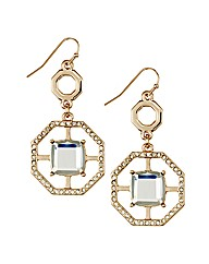 Mood Crystal Octagon Drop Earring