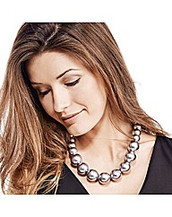 Mood Graduated Large Grey Pearl Necklace